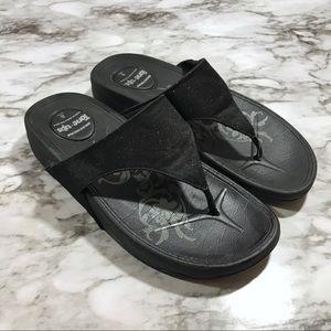 87290151be25 Skechers Shoes - Skechers Tone Ups Black Sandals